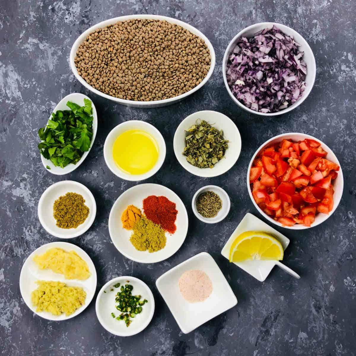 whole masoor dal ingredients