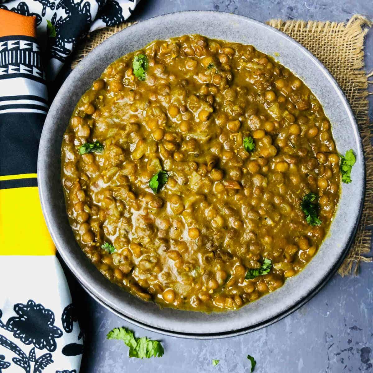 instant pot whole masoor dal