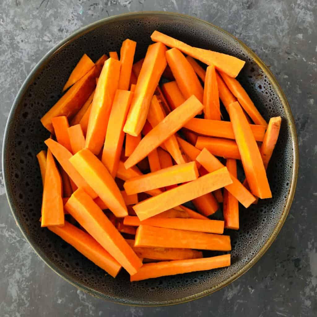 sweet potato cut for fries
