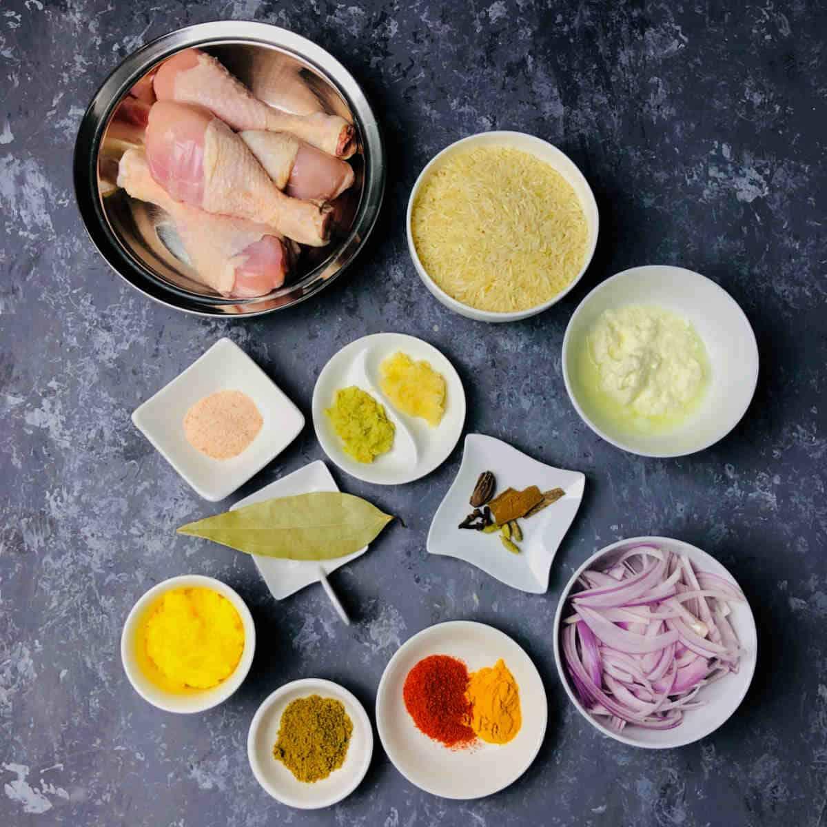instant pot chicken pulao ingredients