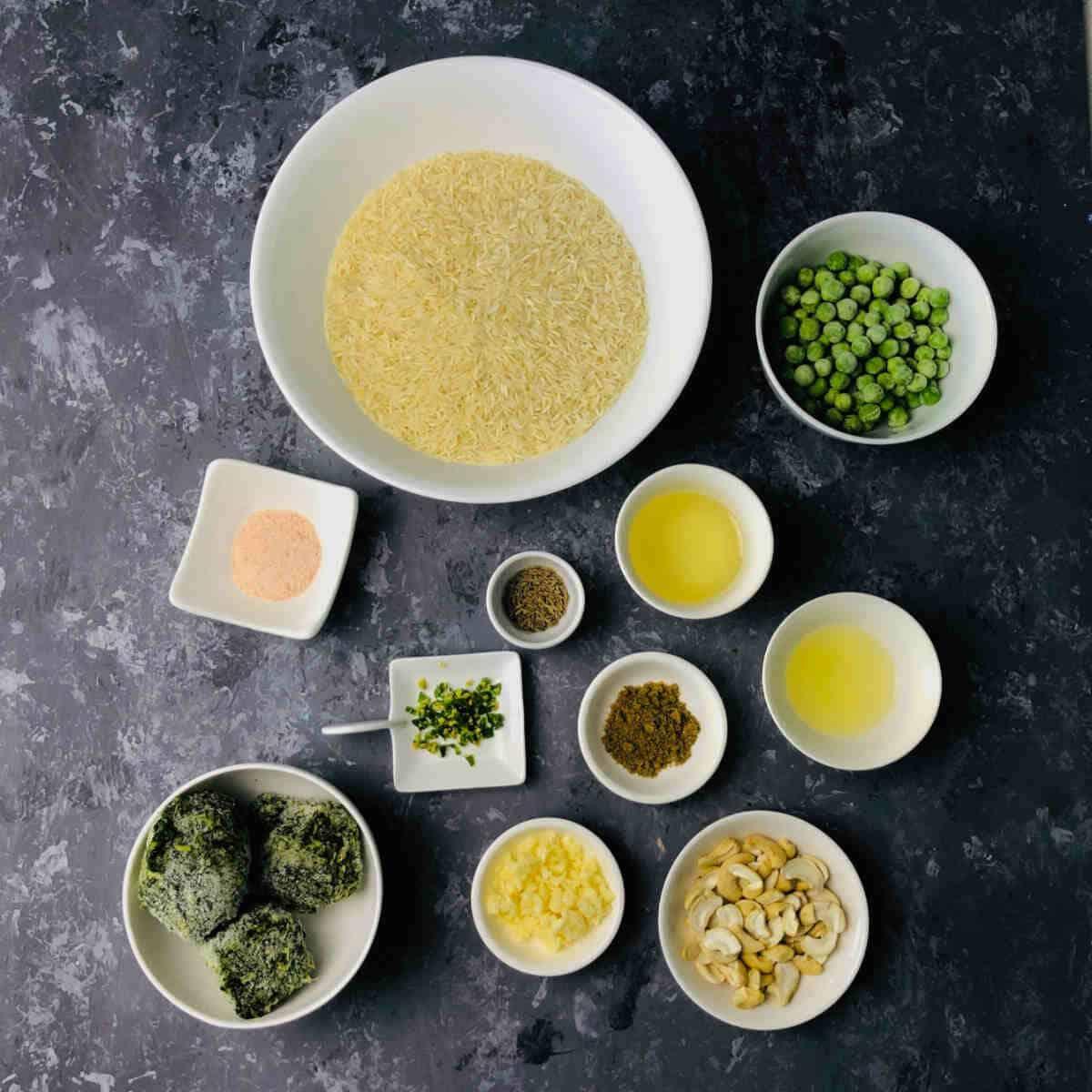 ingredients to make methi rice