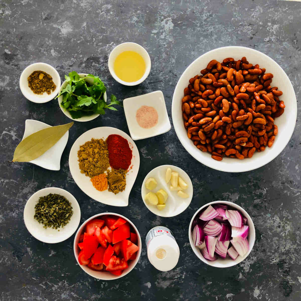 ingredients to make rajma in an Instant Pot